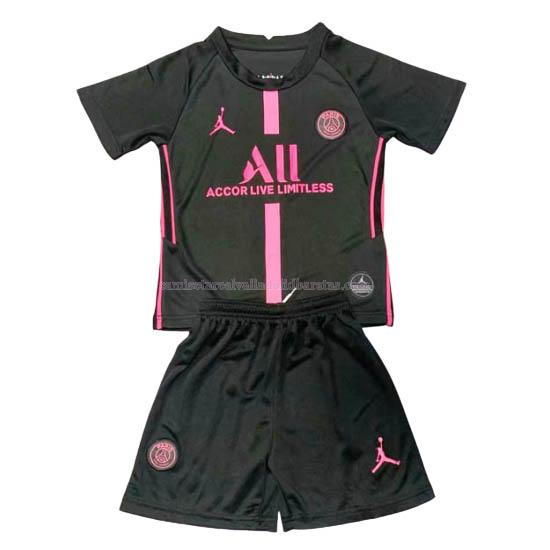camiseta del paris saint-germain del niños negro 2020-21