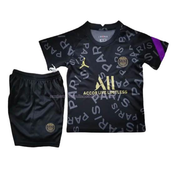camiseta paris saint-germain niños pre-match negro 2020-21